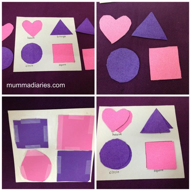 cardboard shapes