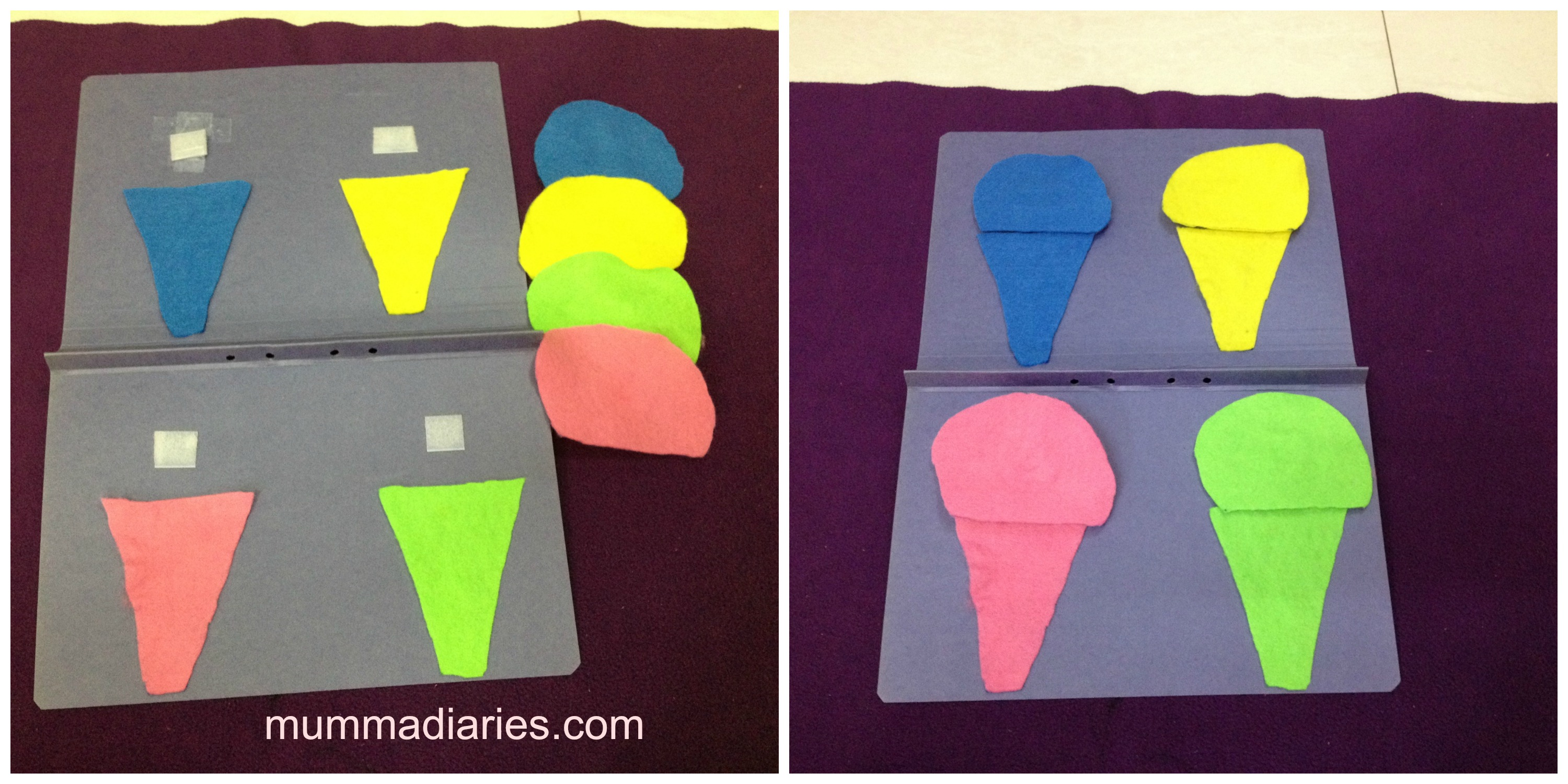 cones shape - Colour Games For Preschool