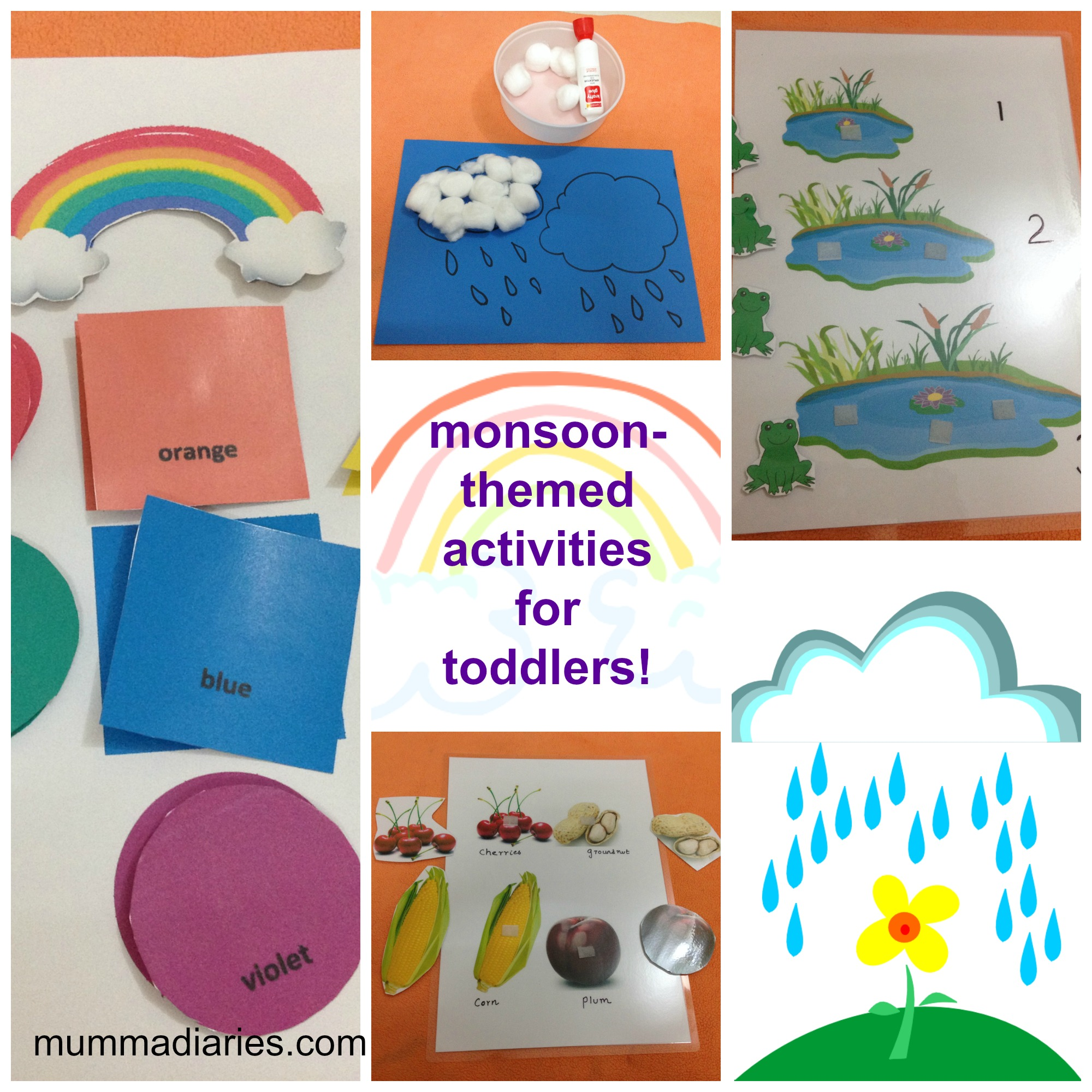 Rainy season themed activities for Toddlers Mumma Diaries