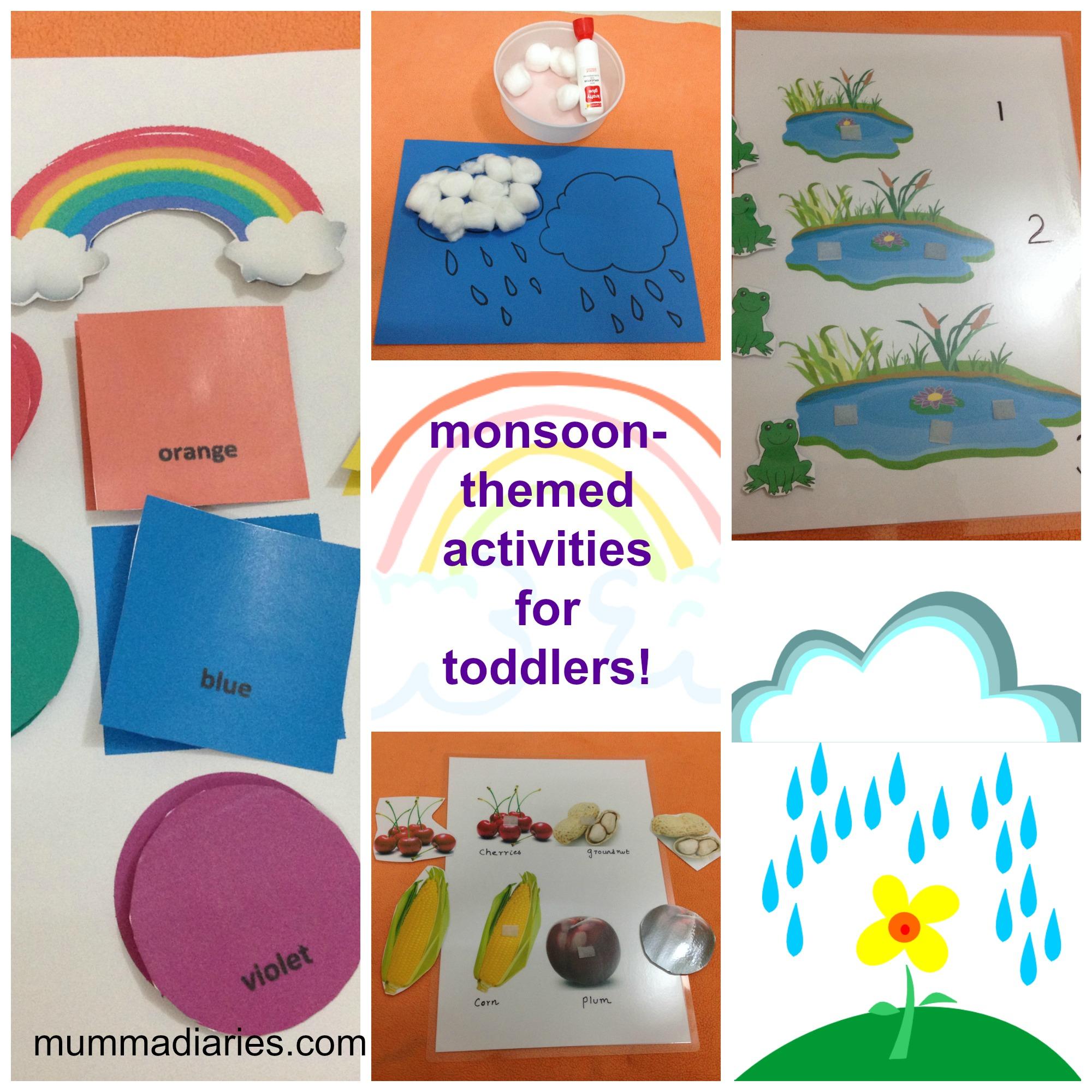 Rainy Season Themed Activities For Toddlers Mumma Diaries