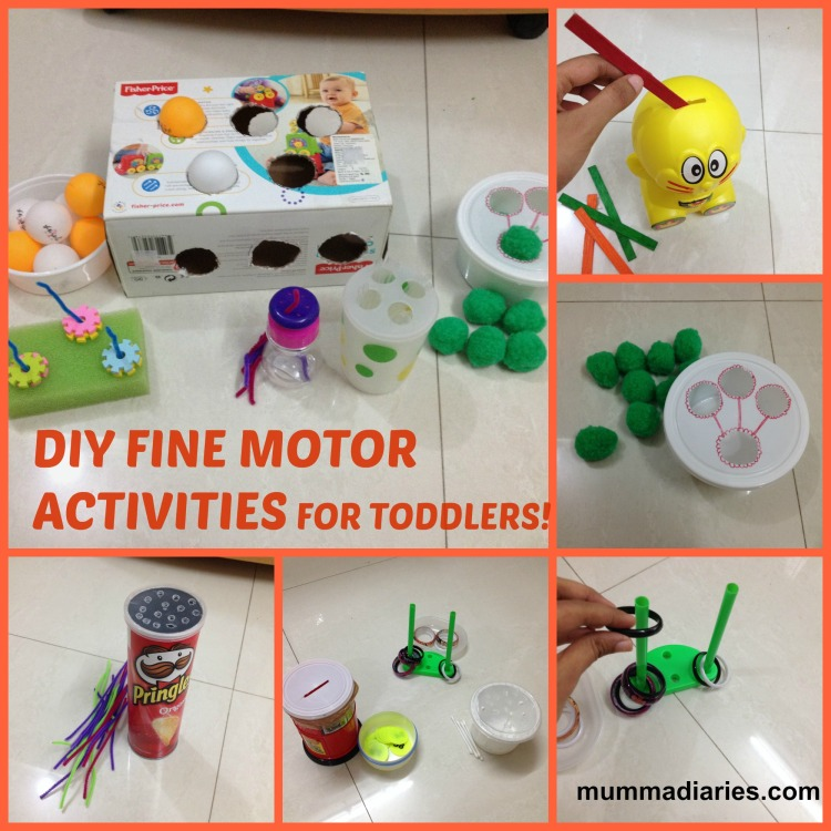 Fun simple diys fine motor skill activities for toddlers for Gross motor skills for infants and toddlers