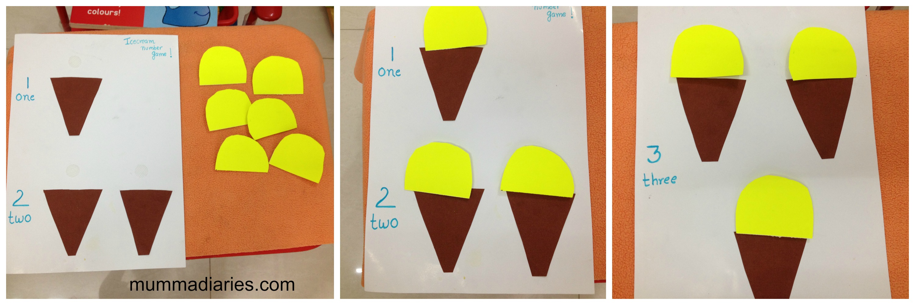 Activities for colors for toddlers - Icecream Counting Activity