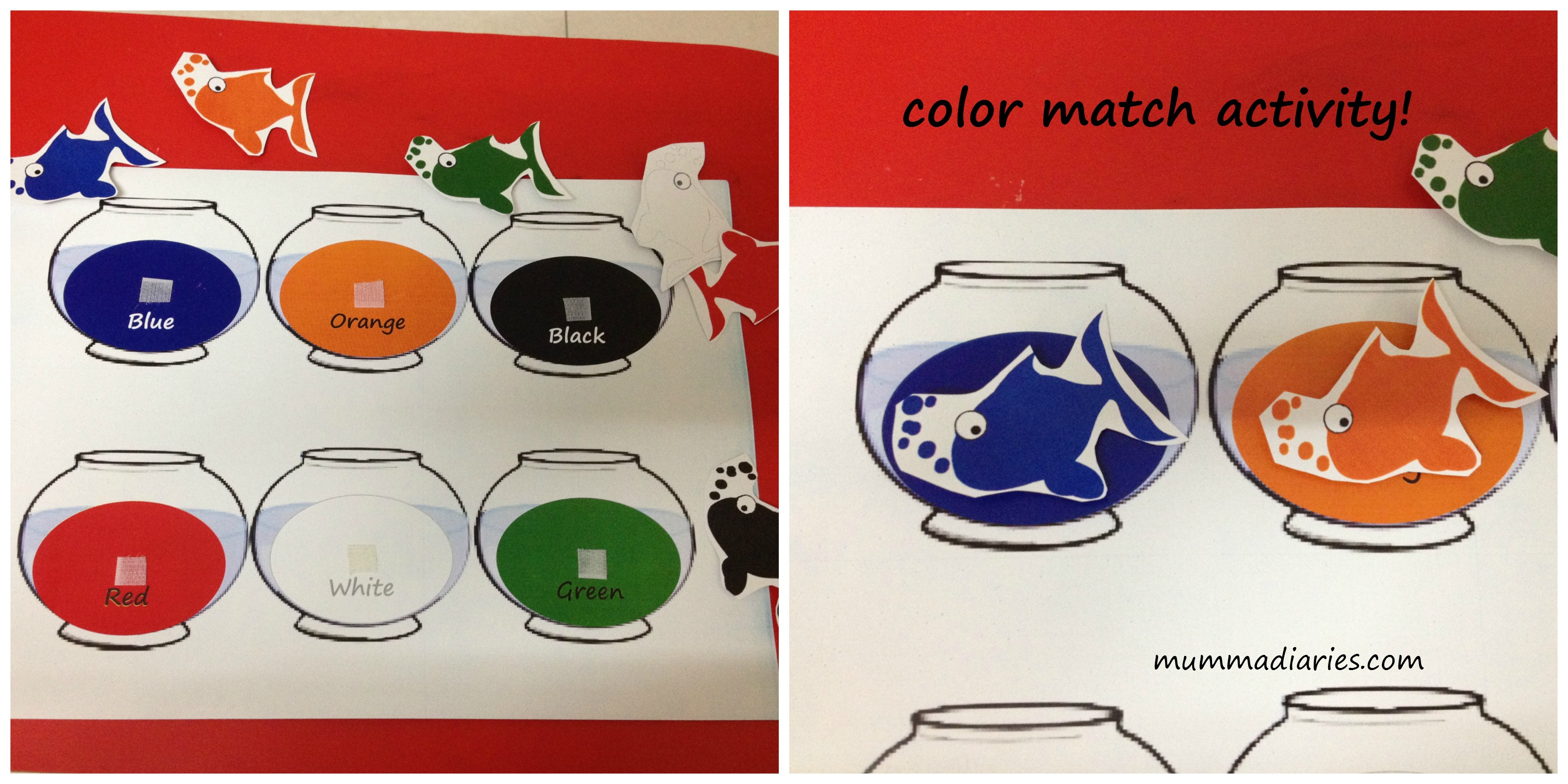 color match - Toddler Activities Printables