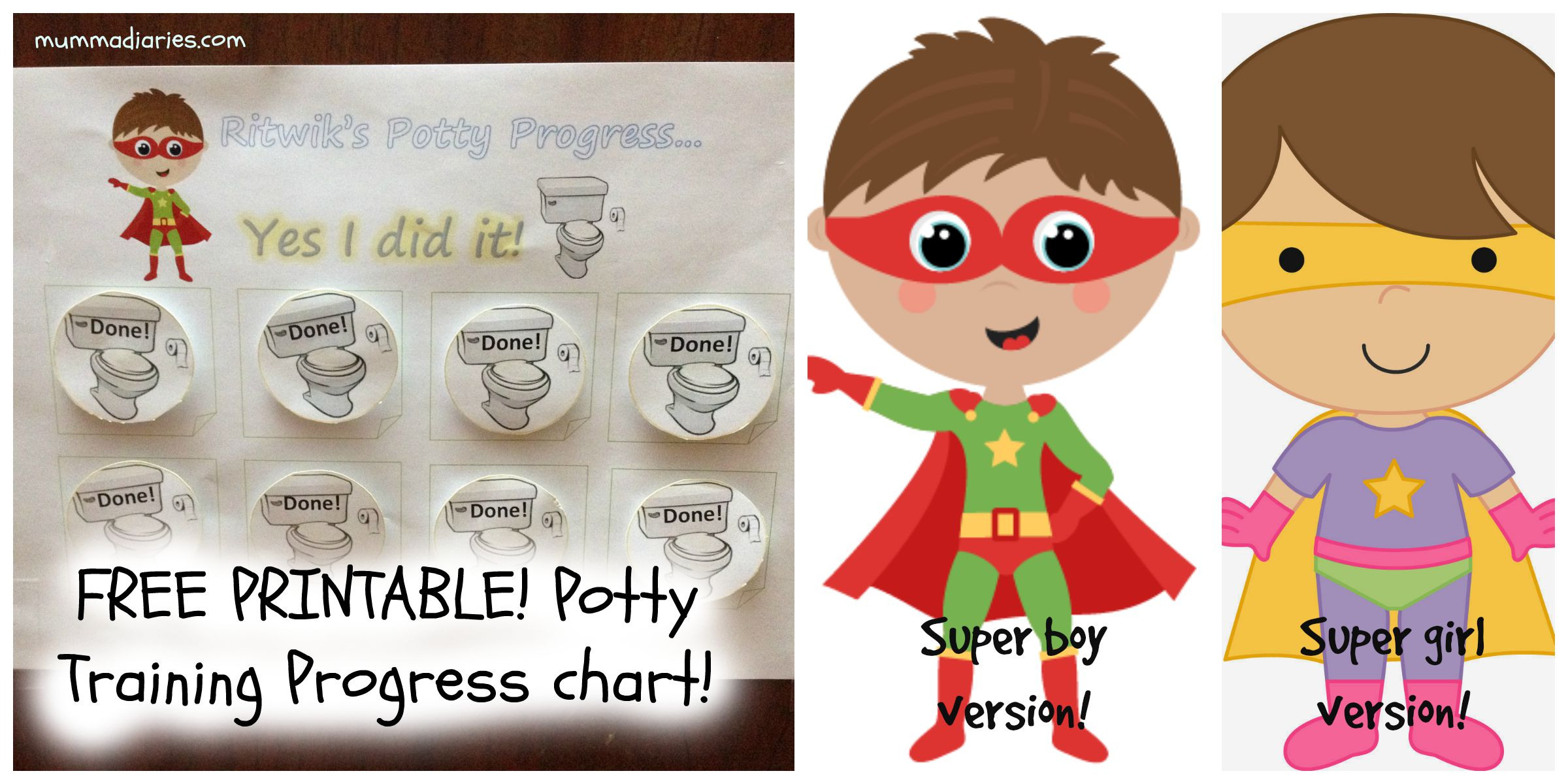 printable potty training progress chart for toddlers potty training progress chart picmonkey collage